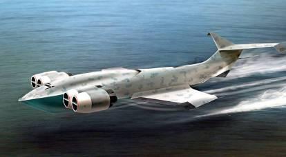 """""""Grande balzo in avanti"""" ekranoplan: come in Russia hanno costruito una macchina miracolosa"""