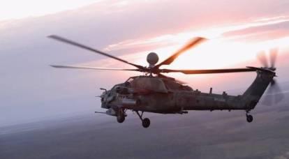 """Media ucraini: la Russia ostenta l'integrazione dell'elicottero Mi-28NM """"Night Hunter"""" con l'ATGM """"Chrysanthemum"""""""