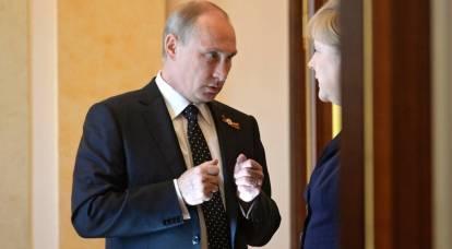 英国媒体读者期待普京与默克尔讨论乌克兰分裂问题