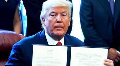 """Trump pone fine alla """"sofferenza"""" degli Stati Uniti"""