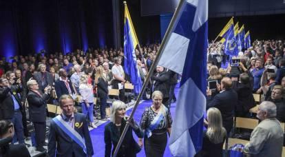 In Finland, demanded to return Karelia