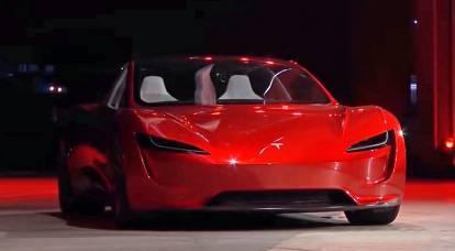 """L'ipercar """"jet"""" Tesla Roadster accelererà fino a 100 km / h in 1,1 secondi"""