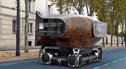 フランス人は球形の車輪を備えた普遍的な電気自動車の概念を提示しました