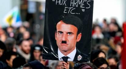 """Rivolta in Francia: Macron ha ottenuto un """"marchio nero"""""""