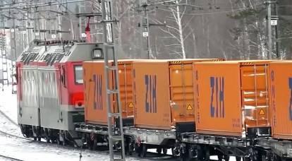 A Rússia agora tem a oportunidade de ganhar um bom dinheiro com o trânsito de produtos chineses para a Europa