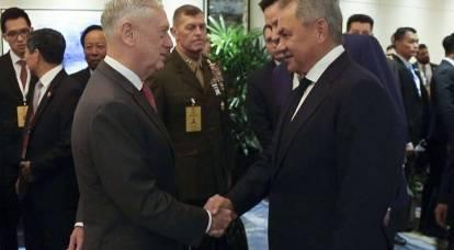 İlk buluşma: Shoigu ve Mattis Singapur'da konuştu