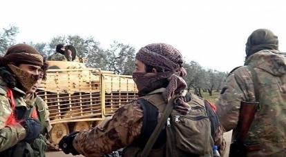 在叙利亚,武装分子特种部队的战士被俘,追捕俄罗斯军队