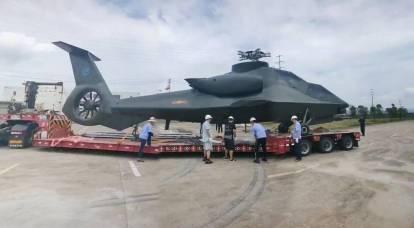 Daha önce bilinmeyen bir Çin gizli helikopterinin fotoğrafı vardı