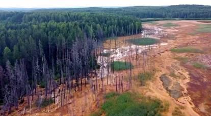 L'acido che sale dal suolo negli Urali ha corroso ogni cosa sul suo cammino