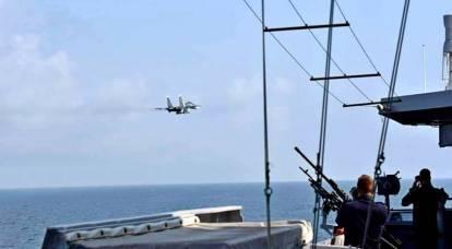 Il russo Su-30SM con due missili X-31 ha intimidito la nave della NATO vicino a Tartus