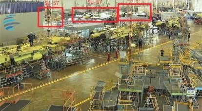 Su-57 in produzione in serie: foto dal negozio di montaggio