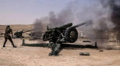 L'esercito siriano ha risposto all'attacco chimico dei militanti