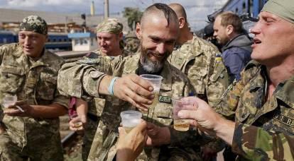 """Nuova """"impresa"""" delle forze armate ucraine: un soldato è stato ucciso per essersi rifiutato di correre per la vodka"""