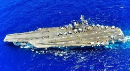 """Uçak gemisi """"Harry Truman"""" Rusya'nın Kuzey Filosunu hedef aldı"""