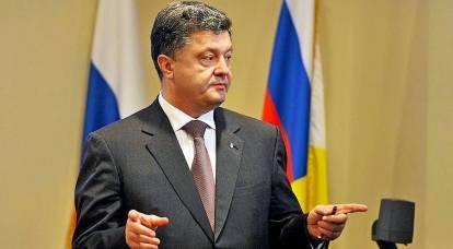 Poroshenko ha deciso di inviare la bandiera russa nella pattumiera della storia