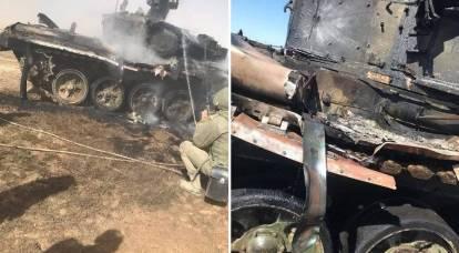 I russi hanno apprezzato il carro armato T-90 accidentalmente messo fuori combattimento dall'ATGM durante gli esercizi nella Federazione Russa