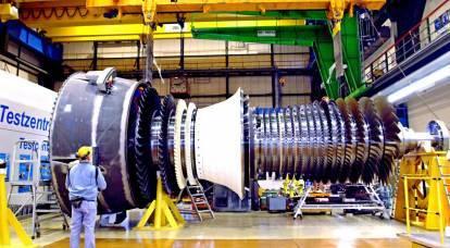 La nuova turbina russa ad alta potenza si guasta