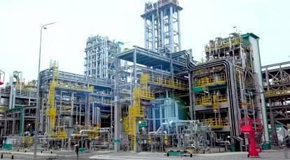 俄罗斯最大的天然气加工厂启动