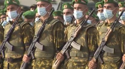 Militares de Kirguistán y Tayikistán disparándose entre sí