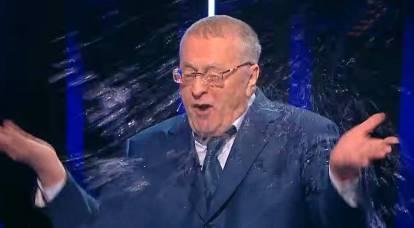 Zhirinovsky era cosparso di acqua nell'aria