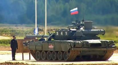 La mancanza di carri armati russi durante le riprese dimostrative ha sorpreso i russi