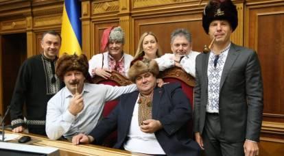 Los diputados ucranianos escribieron una carta a Putin, disfrazados de cosacos