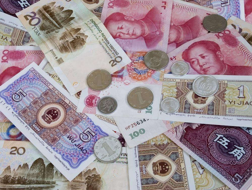 Китайские юани фото
