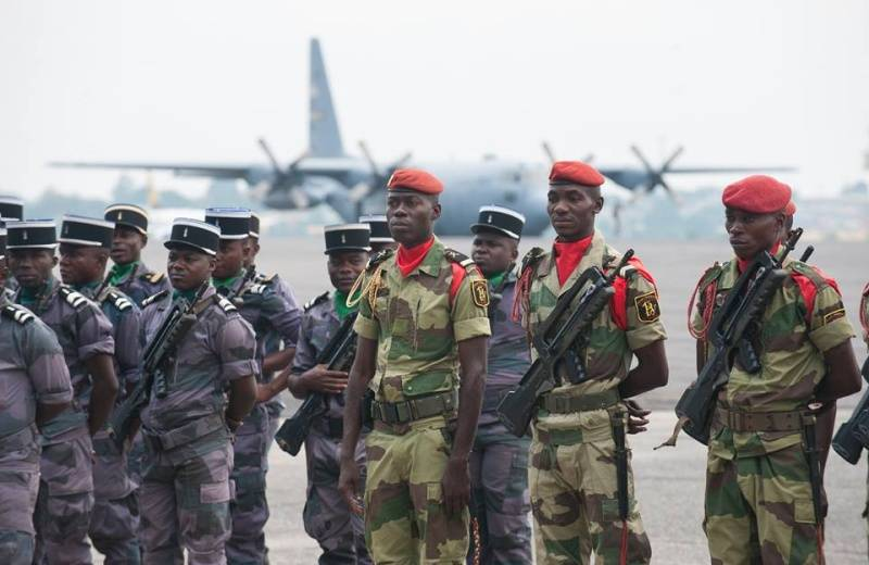 The entry of American troops into Gabon led to a military rebellion