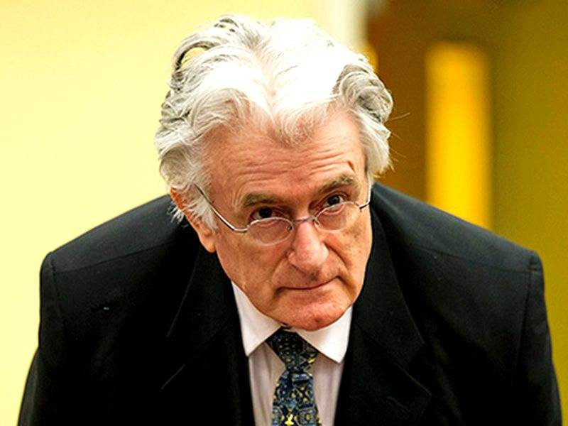 Radovan Karadzic imprisoned for the rest of his life
