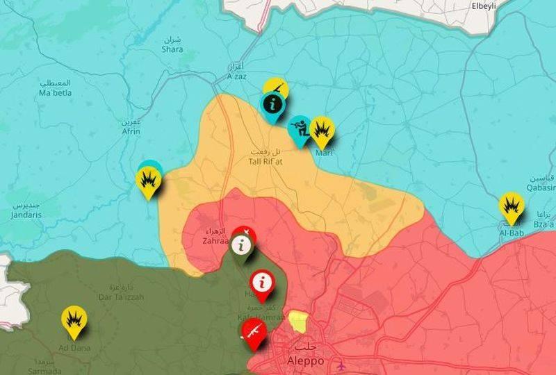 AMN: российская военная полиция оставила Тель-Рифат на севере Сирии
