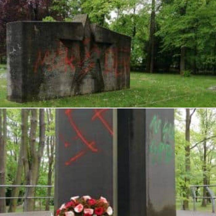 The Nazis desecrated the Soviet military burial in Germany