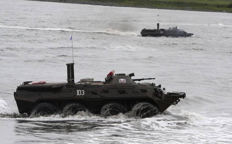 В ходе учений на Балтике погиб морской пехотинец