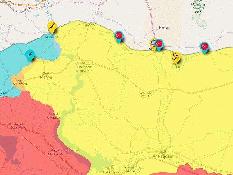 Turks, along with the Americans began to patrol the north of Syria
