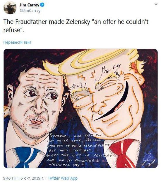 Jim Carrey ridiculed Trump and Zelensky by posting a caricature of them