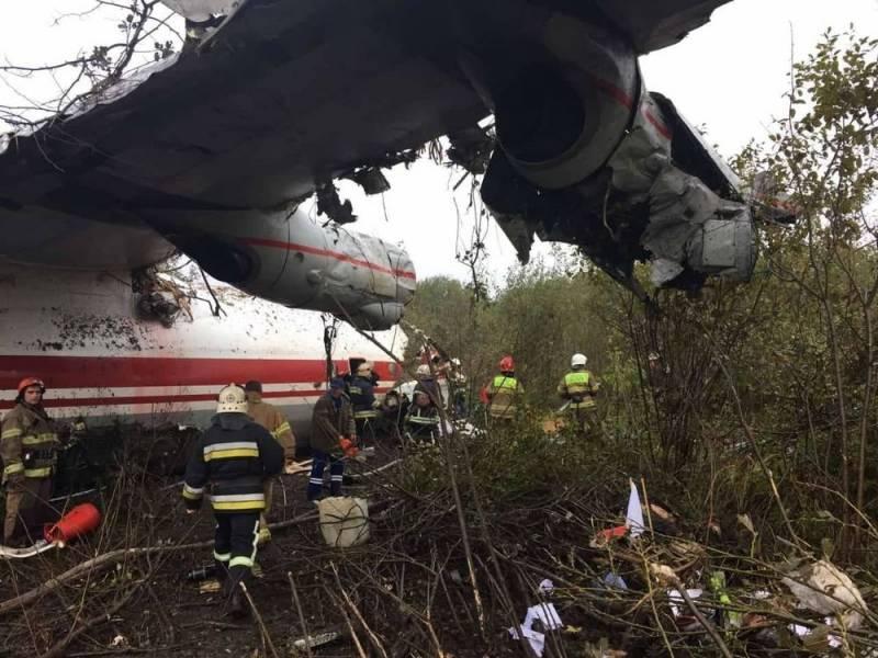 Под Львовом произошла катастрофа самолета Ан-12