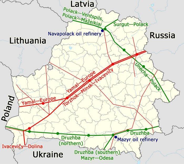 Латвия заявила, что рада прийти на помощь Беларуси в вопросе поставок нефти
