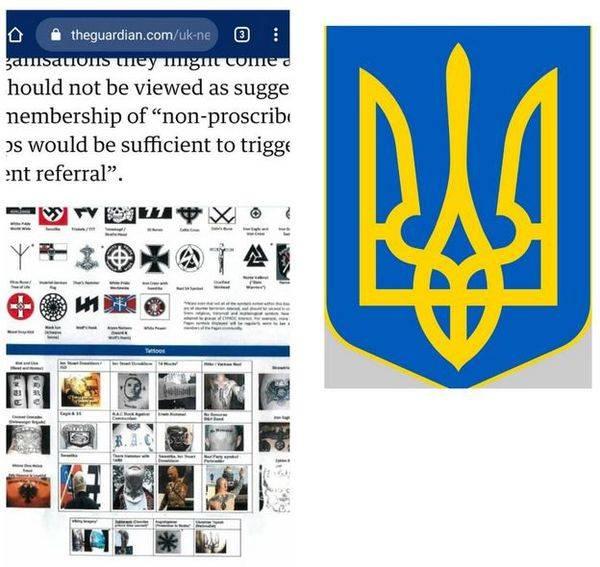 British authorities put Ukrainian trident on the list of extremist symbols