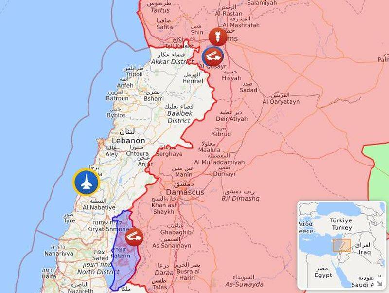 Syria repulsed Israeli attacks from Golan and Lebanon