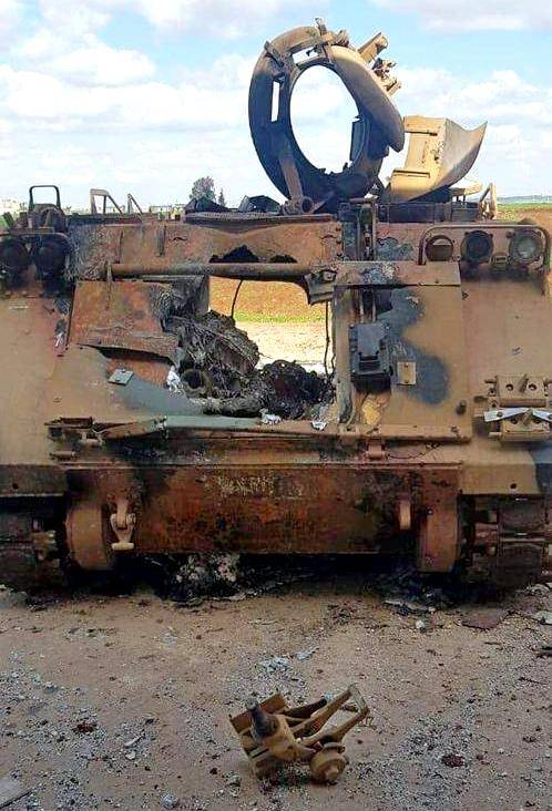 An unusually large hole in the Turkish BMP corps is being discussed on the Web