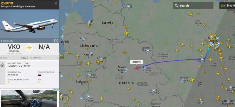 «Оперативный десант»: зачем спецборт ФСБ России прилетел в Минск