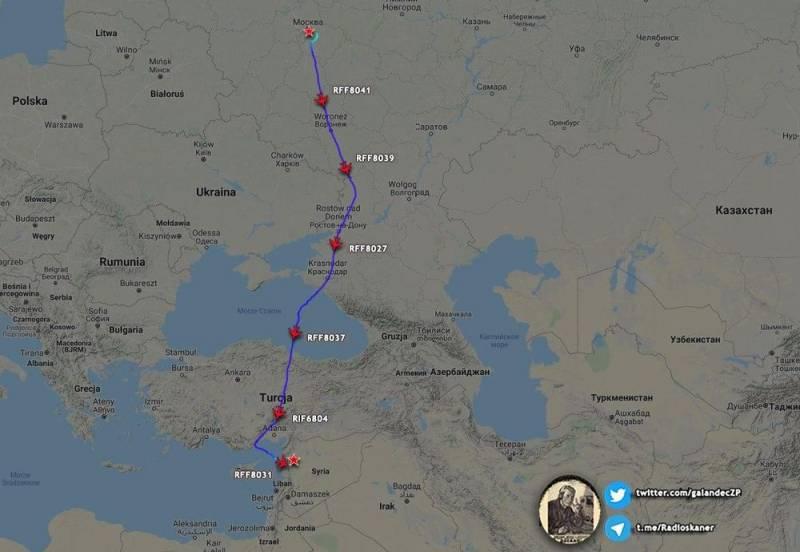 Целый «караван» военно-транспортных Ил-76 прилетел в Сирию