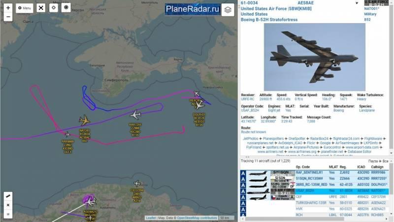 СМИ США: Задачей B-52 над Черным морем было отвлечь внимание русских от главного