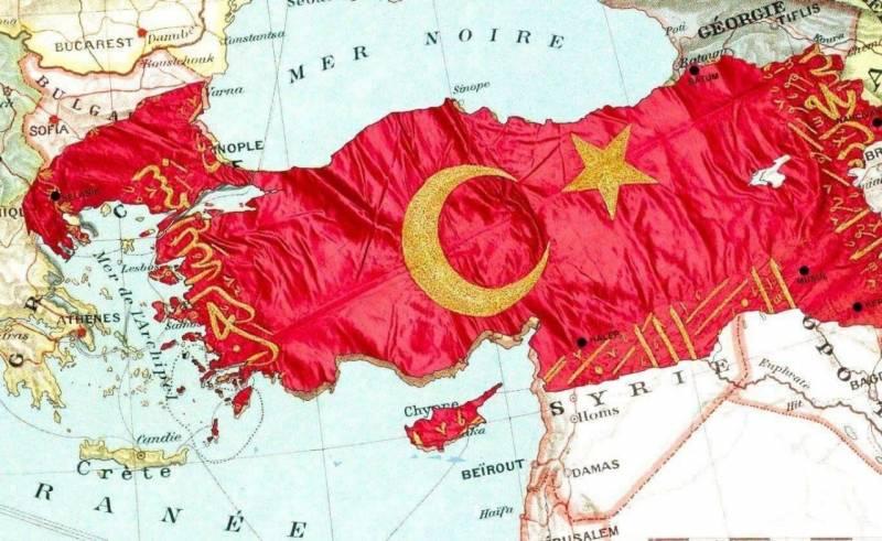 Приближенный к Эрдогану политик показал карту «Турции будущего»