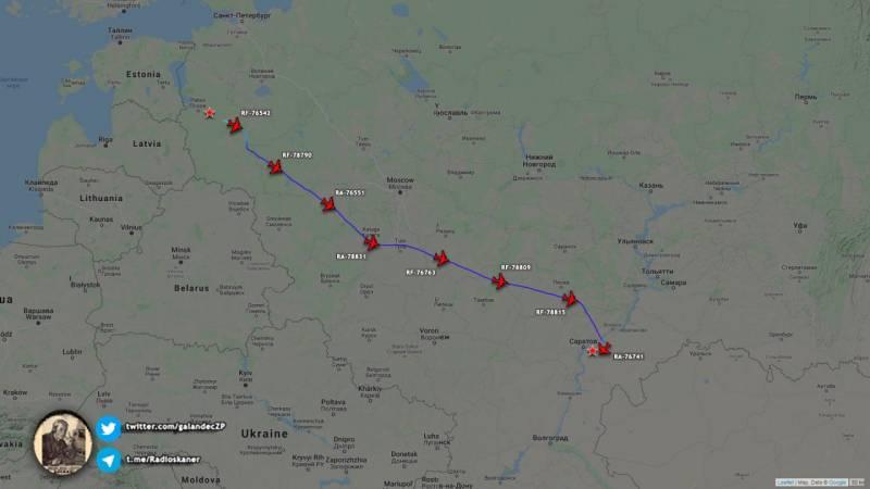 В Сети обсуждают причины масштабной переброски 27 бортов Ил-76 из Пскова в Энгельс