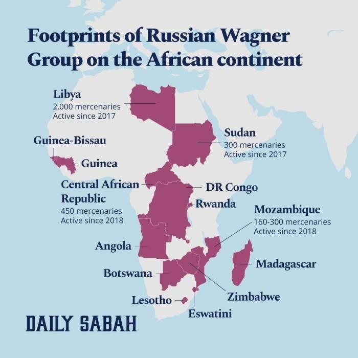 トルコのメディア:ワーグナーはアフリカの14か国で活動しています