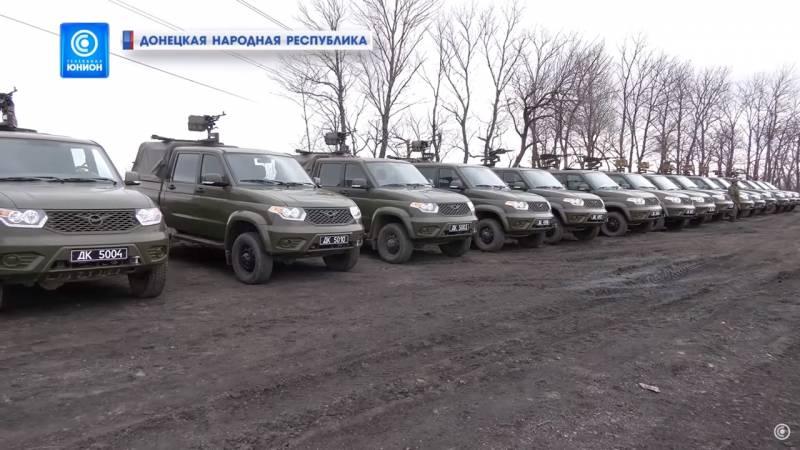 Россия впервые публично поставила военную технику в ДНР